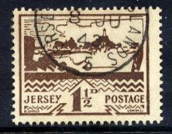JERSEY 1943 Landscapes 1½d Used.  Michel 5 - Occupation 1938-45