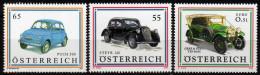 ÖSTERREICH 2011, 2006, 2002 ** Gräf & Stift, Steyr 220, Puch 500 - Serie MNH - Voitures