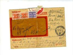 Busta Telegramma Tedesco 1939 Con Segnatasse Italiani Annulli Tedeschi E Italiani - Deutschland