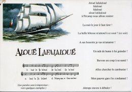PARTITION MARINE CARTE POSTALE ALOUÉ LAFALALOUÉ FÉCAMP ILL ALAIN TREBERN - Musique Et Musiciens