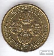 Bhutan 47a 1979 Stgl./unzirkuliert Stahl, Alu-Bronze Plattiert Stgl./unzirkuliert 1979 25 Chhertum Fische - Bhoutan