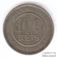 Brasilien KM-Nr. : 492 1898 Sehr Schön Kupfer-Nickel Sehr Schön 1898 100 Reis Kreuz Des Südens - Brazil