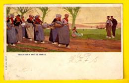 TERUGKEER VAN DE MARKT 1904 W DE HAAN UTRECHT ILLUSTRATEUR ILLUSTRATOR ? CASSIERS H? Ilustrador MARKT MARCHE PAYSAN 3928 - Marktplaatsen