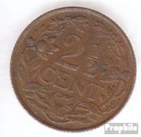 Curacao KM-Nr. : 42 1948 Sehr Schön Bronze Sehr Schön 1948 2 Cents Löwe - Curacao
