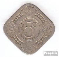 Curacao KM-Nr. : 47 1948 Sehr Schön Kupfer-Nickel Sehr Schön 1948 5 Cents Blume - Curaçao