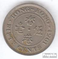 Hongkong 27 1951 Sehr Schön Kupfer-Nickel Sehr Schön 1951 50 Cents George VI. - Hongkong