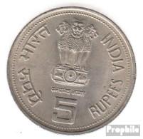 Indien KM-Nr. : 150 1985 Vorzüglich Kupfer-Nickel Vorzüglich 1985 5 Rupien Gandhi - Indien