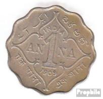 Indien KM-Nr. : 504 1907 Sehr Schön Kupfer-Nickel Sehr Schön 1907 1 Anna Edward VII. - Indien