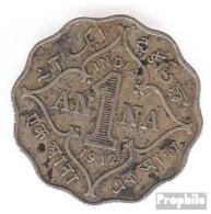Indien KM-Nr. : 513 1917 Sehr Schön Kupfer-Nickel Sehr Schön 1917 1 Anna George V. - Indien