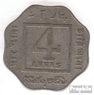 Indien KM-Nr. : 519 1920 Sehr Schön Kupfer-Nickel Sehr Schön 1920 4 Annas George V. - Indien