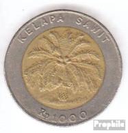 Indonesien KM-Nr. : 56 1996 Vorzüglich Bimetall Vorzüglich 1996 1000 Rupien Palme - Indonesien