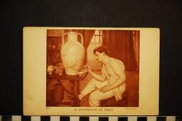 CP, Arts, Peinture, G Courtois Le Decorateur De VAse Edition Braun Et Cie Salons De Paris N°275 TRES RARE - Pittura & Quadri
