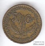 Kamerun KM-Nr. : 1 1925 Vorzüglich Aluminium-Bronze Vorzüglich 1925 50 Centimes Laureate - Kamerun