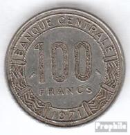 Kamerun KM-Nr. : 15 1971 Sehr Schön Nickel Sehr Schön 1971 100 Francs Antilopen - Kamerun
