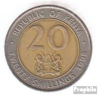 Kenia KM-Nr. : 32 1998 Sehr Schön Bimetall Sehr Schön 1998 20 Shillings Arap Moi - Kenya
