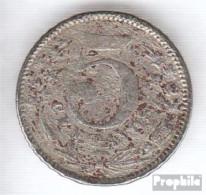 Kolumbien 183 1886 Typ 1 Sehr Schön Kupfer-Nickel Sehr Schön 1886 5 Centavos Große Fahne Der 5 - Kolumbien