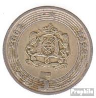 Marokko KM-Nr. : 109 2002 Sehr Schön Bimetall Sehr Schön 2002 5 Dirhams Wappen - Morocco