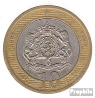 Marokko KM-Nr. : 110 2002 Vorzüglich Bimetall Vorzüglich 2002 10 Dirhams Wappen - Marokko