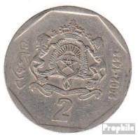 Marokko KM-Nr. : 118 2002 Sehr Schön Kupfer-Nickel Sehr Schön 2002 2 Dirhams Wappen - Marokko