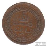 Marokko KM-Nr. : 16 1321 Schön Bronze Schön 1321 5 Mazunas Kreis - Marokko