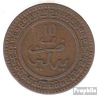 Marokko KM-Nr. : 17 1321 Typ 1 Schön Bronze Schön 1321 10 Mazunas Kreis - Marokko
