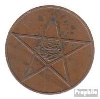 Marokko KM-Nr. : 28 1330 Typ 1 Sehr Schön Bronze Sehr Schön 1330 5 Mazunas Stern - Marokko