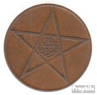 Marokko KM-Nr. : 29 1340 Typ 2 Sehr Schön Bronze Sehr Schön 1340 10 Mazunas Stern - Marokko