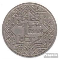 Marokko KM-Nr. : 36 1924 Sehr Schön Nickel Sehr Schön 1924 1 Franc Stern - Morocco