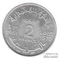 Marokko KM-Nr. : 47 1951 Vorzüglich Aluminium Vorzüglich 1951 2 Francs Stern - Marokko