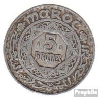 Marokko KM-Nr. : 48 1370 Vorzüglich Aluminium Vorzüglich 1370 5 Francs Stern - Morocco