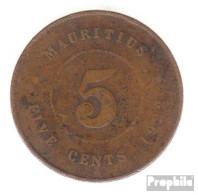 Mauritius KM-Nr. : 14 1922 Sehr Schön Bronze Sehr Schön 1922 5 Cents George V. - Maurice