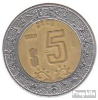 Mexiko KM-Nr. : 605 1999 Sehr Schön Bimetall Sehr Schön 1999 5 Pesos Adler - Mexiko