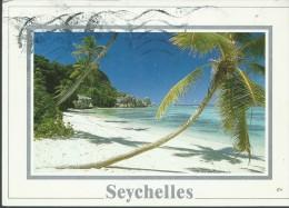 SEYCHELLES - ANSE SOURCE D'ARGENT - VIAGGIATA  CON  FRANCOBOLLO - INCHIOSTRO DI  BOLLI  SUL  DAVANTI - Seychelles