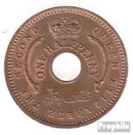 Nigeria KM-Nr. : 1 1959 Stgl./unzirkuliert Bronze Stgl./unzirkuliert 1959 1/2 Penny Elizabeth II. - Nigeria
