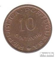 Portugiesisch-Indien KM-Nr. : 30 1961 Stgl./unzirkuliert Bronze Stgl./unzirkuliert 1961 10 Centavos Wappen - Portugal
