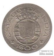 Portugiesisch-Indien KM-Nr. : 33 1959 Sehr Schön Kupfer-Nickel Sehr Schön 1959 1 Escudu Wappen - Portugal