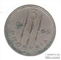 Rhodesien KM-Nr. : 8 1968 Sehr Schön Kupfer-Nickel Sehr Schön 1968 3 Pence Elizabeth II. - Rhodésie
