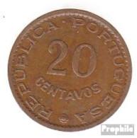 Sao Tome E Principe KM-Nr. : 16 1962 Stgl./unzirkuliert Bronze Stgl./unzirkuliert 1962 20 Centavos Wappen - Sao Tome And Principe