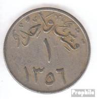 Saudi-Arabien KM-Nr. : 21 1356 Typ 2 Sehr Schön Kupfer-Nickel Sehr Schön 1356 1 Ghirsch Königreich - Arabie Saoudite