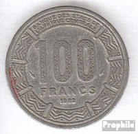 Tschad 3 1984 Vorzüglich Nickel Vorzüglich 1984 100 Francs Antilopen - Tschad