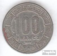 Tschad 3 1988 Sehr Schön Nickel Sehr Schön 1988 100 Francs Antilopen - Tsjaad
