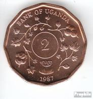 Uganda KM-Nr. : 28 1987 Stgl./unzirkuliert Stahl, Kupfer Plattiert Stgl./unzirkuliert 1987 2 Shillings Wappen - Ouganda