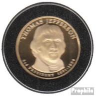 USA KM-Nr. : 403 2007 S Polierte Platte Kupfer, Nickel-Me Plattiert Polierte Platte 2007 1 Dollar Thomas Jefferson - Emissioni Federali