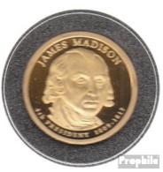 USA KM-Nr. : 404 2007 S Polierte Platte Kupfer, Nickel-Me Plattiert Polierte Platte 2007 1 Dollar James Madison - Emissioni Federali