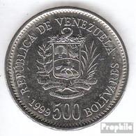 Venezuela KM-Nr. : 79 1999 Vorzüglich Stahl, Nickel Plattiert Vorzüglich 1999 500 Bolivares Wappen - Venezuela