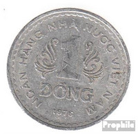Vietnam KM-Nr. : 14 1976 Sehr Schön Aluminium Sehr Schön 1976 1 Dong Wappen - Viêt-Nam