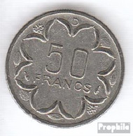 Zentralafrikanische Staaten KM-Nr. : 11 1976 D Sehr Schön Nickel Sehr Schön 1976 50 Francs Antilopen - Central African Republic