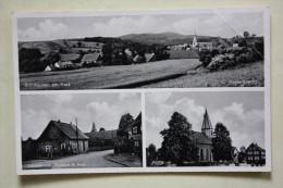 1953 BORNHAUSEN AM HARZ // GESAMTANSICHT - LEBENSMITTEL - KIRCHE - Seesen