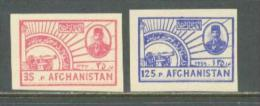 1954 AFGHANISTAN 36 YEARS INDEPENDENCE IMPERFORATED MICHEL: 406-407 MNH ** - Afghanistan