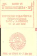 """CARNET 2154-C 1 Sabine """"PHILEXFRANCE"""" Fermé Carnet De 20 Timbres Bas Prix état Parfait Soigné TRES RARE - Definitives"""